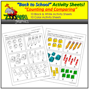 Counting and Comparing Activity Sheets