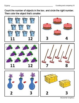 Counting and Comparing (Long A Words) Activity Sheets