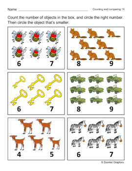 Counting and Comparing (Long E Words) Activity Sheets