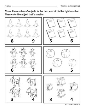 Counting and Comparing (Long O Words) Activity Sheets
