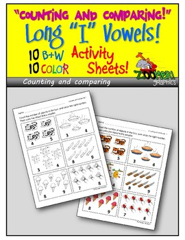 Counting and Comparing (Long i Words) Activity Sheets