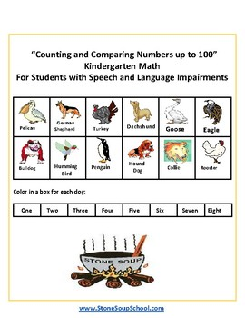 K - Counting and Comparing Numbers up to 100 - Speech and Language