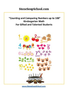 K - Gifted and Talented - Counting and Comparing Numbers to 100 - Common Core