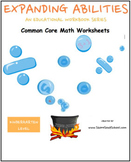 Kindergarten Math Bundle -Counting, Algebra, Geom, Base 10- Traditional Students