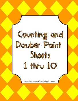 Counting and Dauber Paint Sheets 1 thru 10
