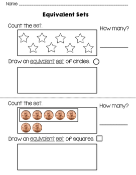 Counting and Drawing Equivalent Sets