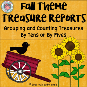 Count by 10's or 5's Fall Theme Treasure Reports