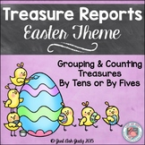 Counting and Grouping by Tens or Fives- Easter Themed Trea
