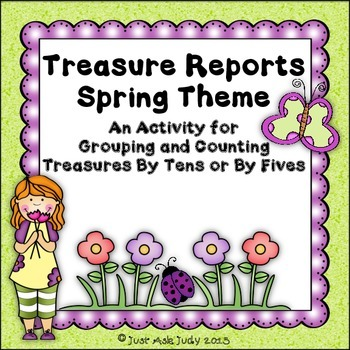 Spring Theme FREEBIE Counting and Grouping by Tens or Five