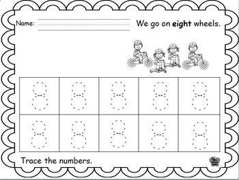 Counting and Identifying Numerals Two