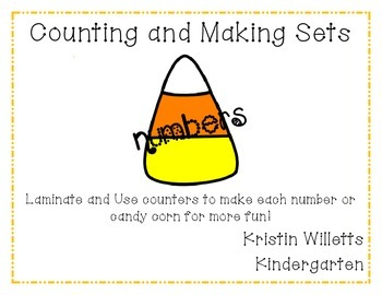 Counting and Making Sets Candy Corn Theme
