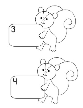 Counting and Making Sets with Mr. Squirrel Numbers 1-5