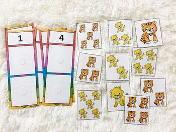 Counting and Matching Activity, Numbers Counting, Toddler Busy Bags