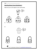 Counting and Matching Coins and Value Teacher Worksheet Pack