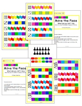 Counting and Matching Dice Math File Folders (Special Education)