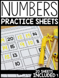 Counting and Missing Numbers Practice Sheets