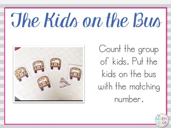 Kindergarten Counting and Number Recognition Math Centers