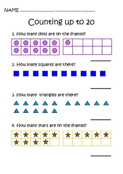 Counting and Number Patterns. 1st Grade. Freebie