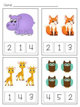 Counting and Number Recognition Practice