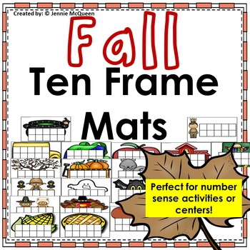 Fall Ten Frame Mats 0-10