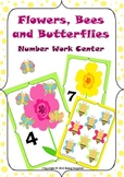 Counting and Number Work Center - Flowers, Bees and Butterflies