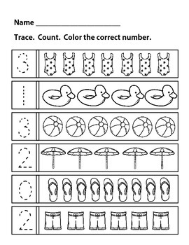 Counting and Numbers 1-10 Printable Pairs - No Prep