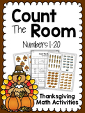 Thanksgiving Task Cards - SCOOT - Count The Room