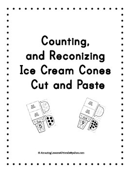 Counting and Reconizing Ice Cream Cones Cut and Paste