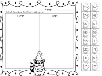 Counting and Representing Numbers:  Winter Themed Math Printable Package
