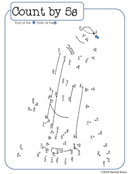 Skip Counting Dot-to-Dots Activities Worksheets 2NBT.A.2