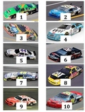 Counting and Skip Counting Math Centers NASCAR Theme