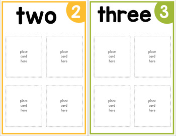 Counting and Sorting with Pictures - Number Boards
