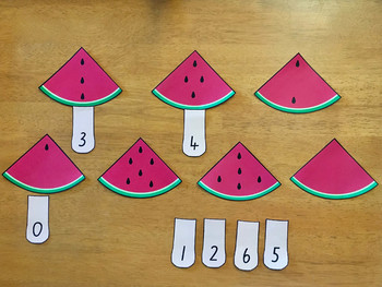Counting and Subitising with Watermelons