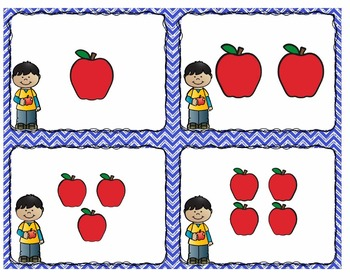 Counting and Subitizing 1 -10 Apple Theme