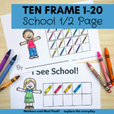 Back to School Counting and Subitizing 1-20: Booklet or 1/2 page Worksheets