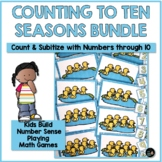 Counting Objects to 10 | Subitizing Through the Seasons BUNDLE