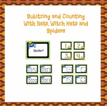 Counting and Subitizing With Friendly Spider Theme