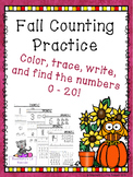 Counting and Writing Numbers 0 - 20 Fall Edition