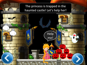 Halloween Counting Numbers Powerpoint Game - The Princess Story