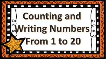 Counting and Writing Numbers 1-20 Task Cards CCSS