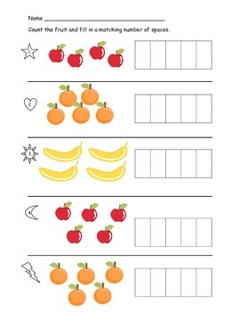 Counting and Writing Numbers 1-5 Practice