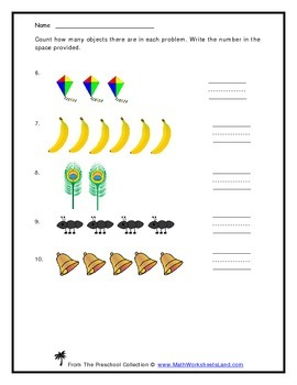 Counting and Writing Numbers 1 to 9 Teacher Worksheet Pack