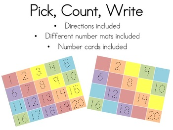 Counting and Writing Numbers Activity - Print, Write, Count