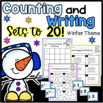 Winter Counting Sets and Writing Numbers to 20 {Differentiated*}