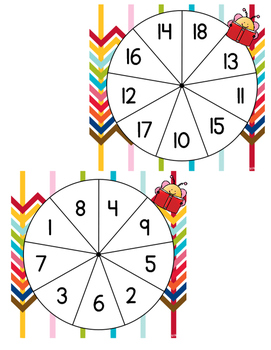 Counting and cardinality spinner activities