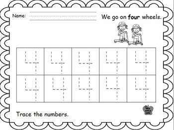 Counting and identifying numerals