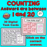 Counting animals/items(answers between 1 -20) BOOM Distanc