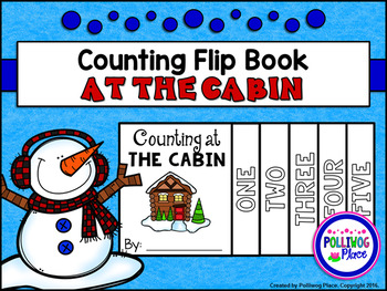 Counting Number Flip Book - Winter Cabin