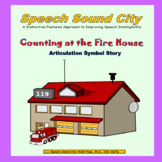 Counting at the Firehouse!  Articulation Symbol Story by S