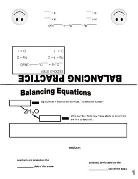 Counting atoms Balancing Equations Foldable/Graphic Organizer